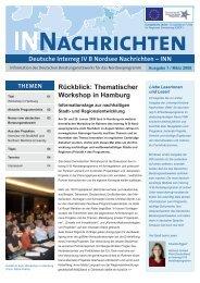 INN Ausgabe 1: März 2008 - Interreg IV B
