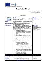 Projekt-Steckbrief als PDF-Datei - Interreg-Nordsee