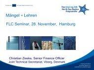 Mängel + Lehren - Interreg IV B