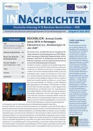 INN Ausgabe 8: September 2010 - Interreg-Nordsee