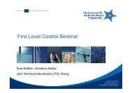 Berichte NSR IVB – erfolgreiche Fehlervermeidung - Interreg IV B