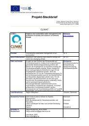 cliwat - Interreg-Nordsee