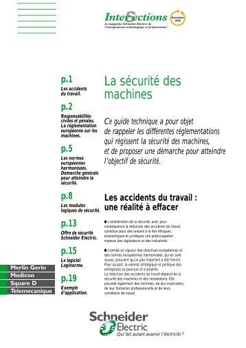 La sécurité des machines - Intersections - Schneider Electric