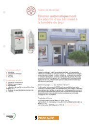 Eclairage automatique - Intersections - Schneider Electric