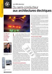 Les LEDs blanches - Intersections - Schneider Electric