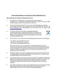 Informationsblatt zum Interseroh Pfand-Abholservice