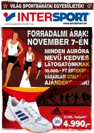 Foяяadalmi áяak! November 7-én - Intersport