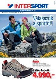 Az Akció érvényessége: 2010. 04. 08 - Intersport