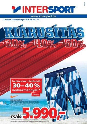 30 – 40 % - Intersport