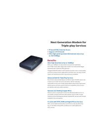 Next Generation Modem for Triple-play Services