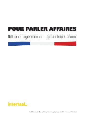 POUR PARLER AFFAIRES - Intertaal