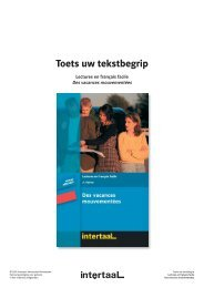 Toets uw tekstbegrip - Intertaal