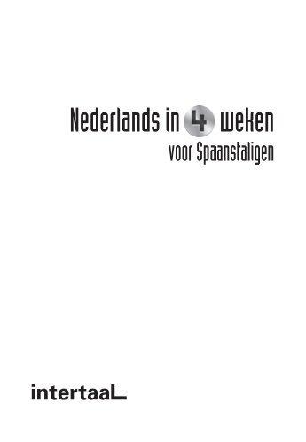 Nederlands in 4 weken - Spaanstaligen - Intertaal