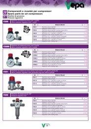 Componenti e ricambi per compressori Spare parts for air ...