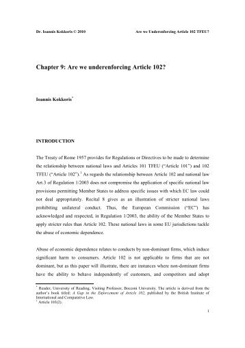 Article 102 of the Treaty on the Functioning of the European Union