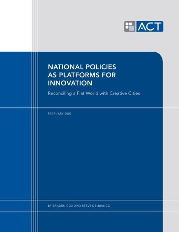 National Policies as Platforms for Innovation. Reconciling a ... - Intertic