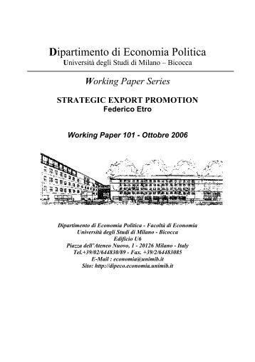 Strategic Export Promotion - Intertic