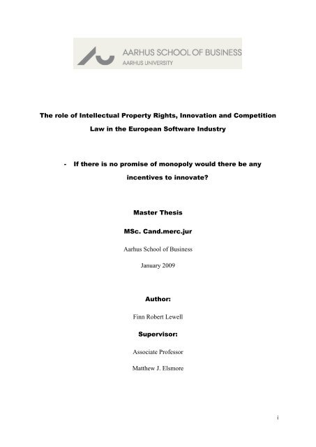 intellectual property master thesis