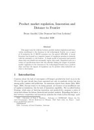 Product market regulation, Innovation and Distance to Frontier - Intertic
