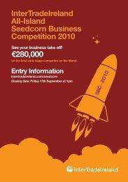 InterTradeIreland All-Island Seedcorn Business Competition 2010 ...