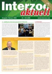 Ausgabe Februar 2008 22.– 25.5.2008 www.interzoo.com
