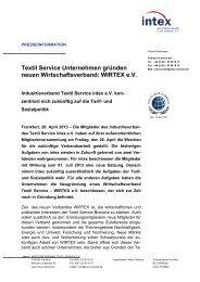 Textil Service Unternehmen gründen neuen ... - intex eV