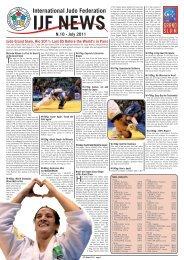 IJF NEWS N.10 - July 2011 - International Judo Federation