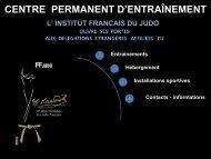INSTITUT NATIONAL DU JUDO - International Judo Federation