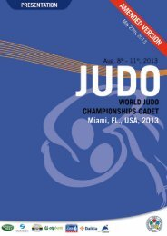 WC Cadets-Miami2013 (pdf) - International Judo Federation