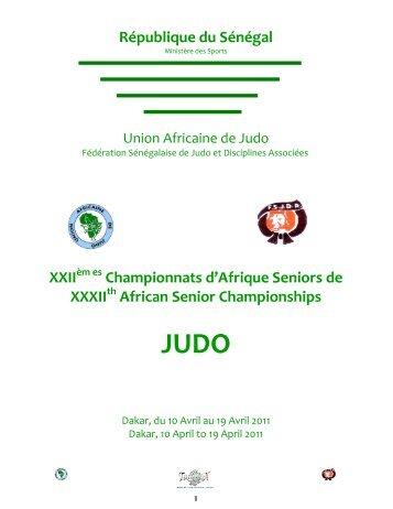 République du Sénégal XXII Championnats d'Afrique Seniors de ...