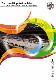 Sports and Organization Rules of the International Judo Federation ...