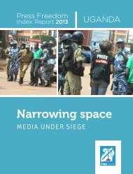 Press Freedom Index Report 2013