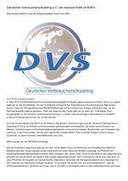 Deutscher Verbraucherschutzring e.V. übt massive Kritik an BaFin