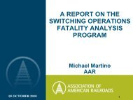 a report on the switching operations fatality analysis program