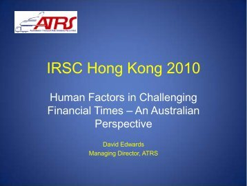 Presentation - International Rail Safety Conference