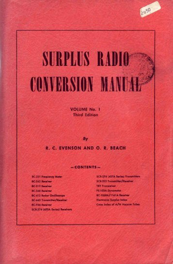 Surplus Conversion Manual vol. 1. - Introni.it