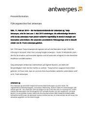 Presseinformation Führungswechsel bei antwerpes - DocCheck AG