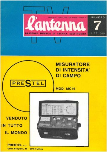 L'antenna 1970 - Introni.it