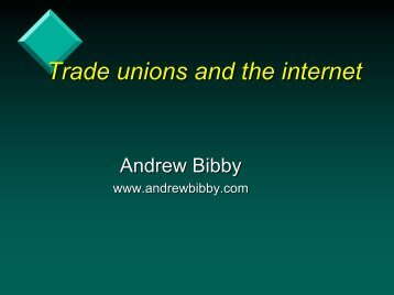 Trade unions and the internet - int.unity