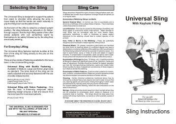 Universal Sling - Keyhole 2003 - Invacare Australia