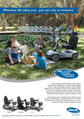Wherever life takes you, you can rely on Invacare. - Invacare Australia