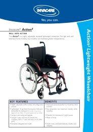 Action Lightweight Wheelchair - Invacare