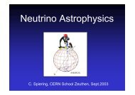 C. Spiering, CERN School Zeuthen, Sept.2003 - CERN Accelerator ...