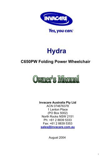 C650PW Folding Power Wheelchair - Invacare