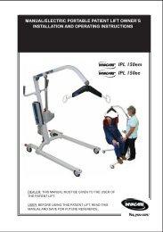 IPL 150 Instruction Book - Invacare