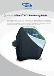 Invacare® InTouch™ PCS Positioning Backs