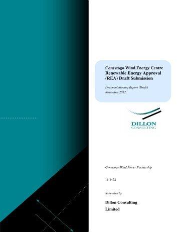 Draft Decommissioning Report - Invenergy LLC