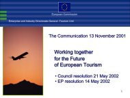 Working together for the Future of European ... - Invent Tourismus