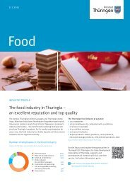 The food industry in Thuringia – an excellent reputation ... - AHK Korea