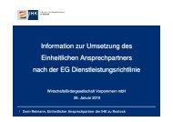 Information zur Umsetzung des Einheitlichen Ansprechpartners ...